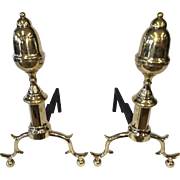 Fireplace andirons early 19th century