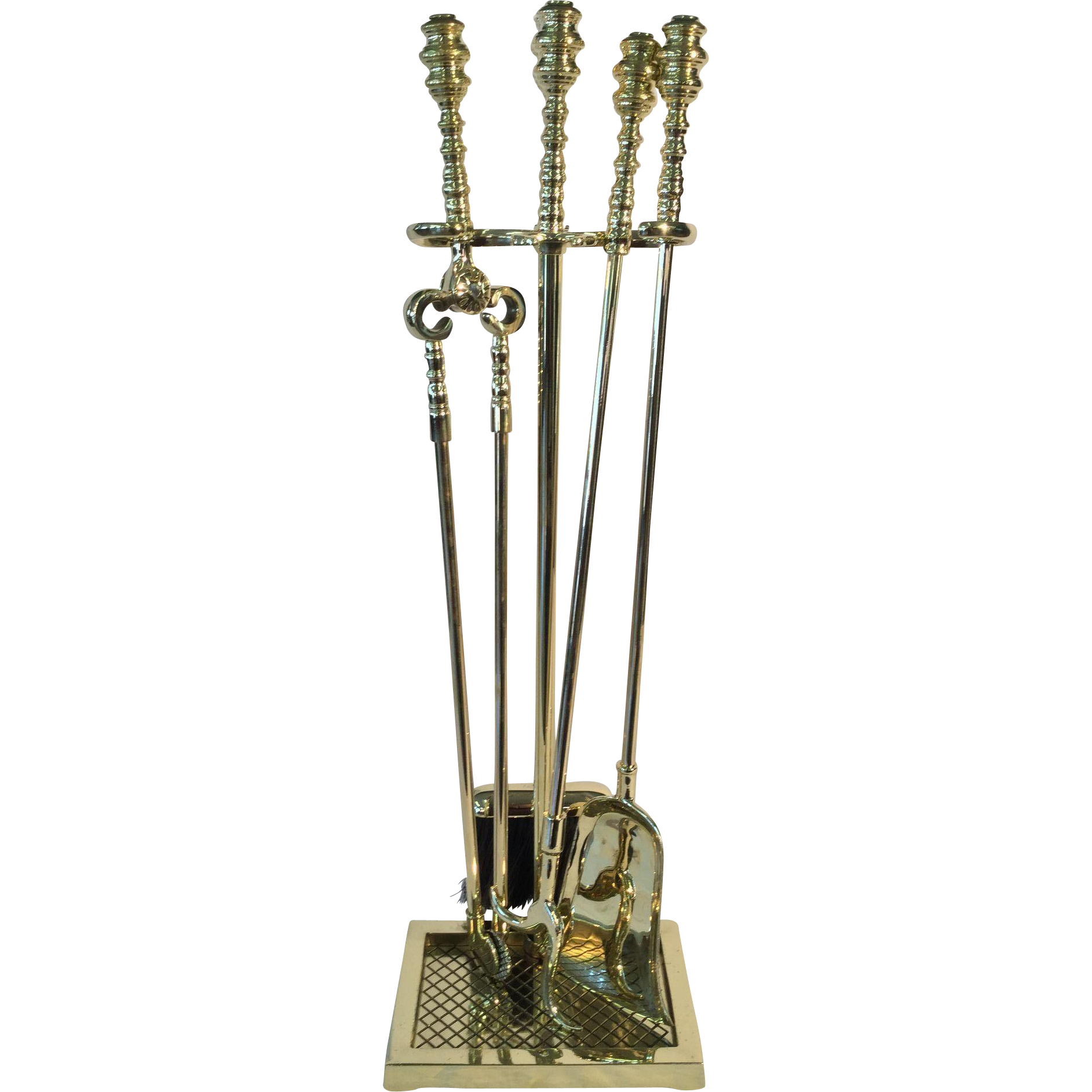 Fireplace tool set beehive handles