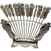 Chinese Silver Hors d 'oeuvre Set of 12 Pics