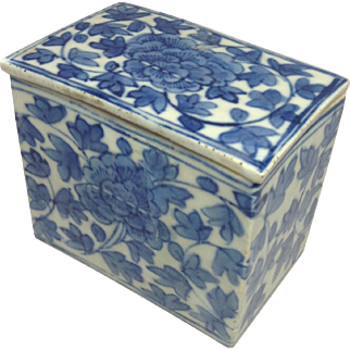 Blue and White Chinese Antique Box