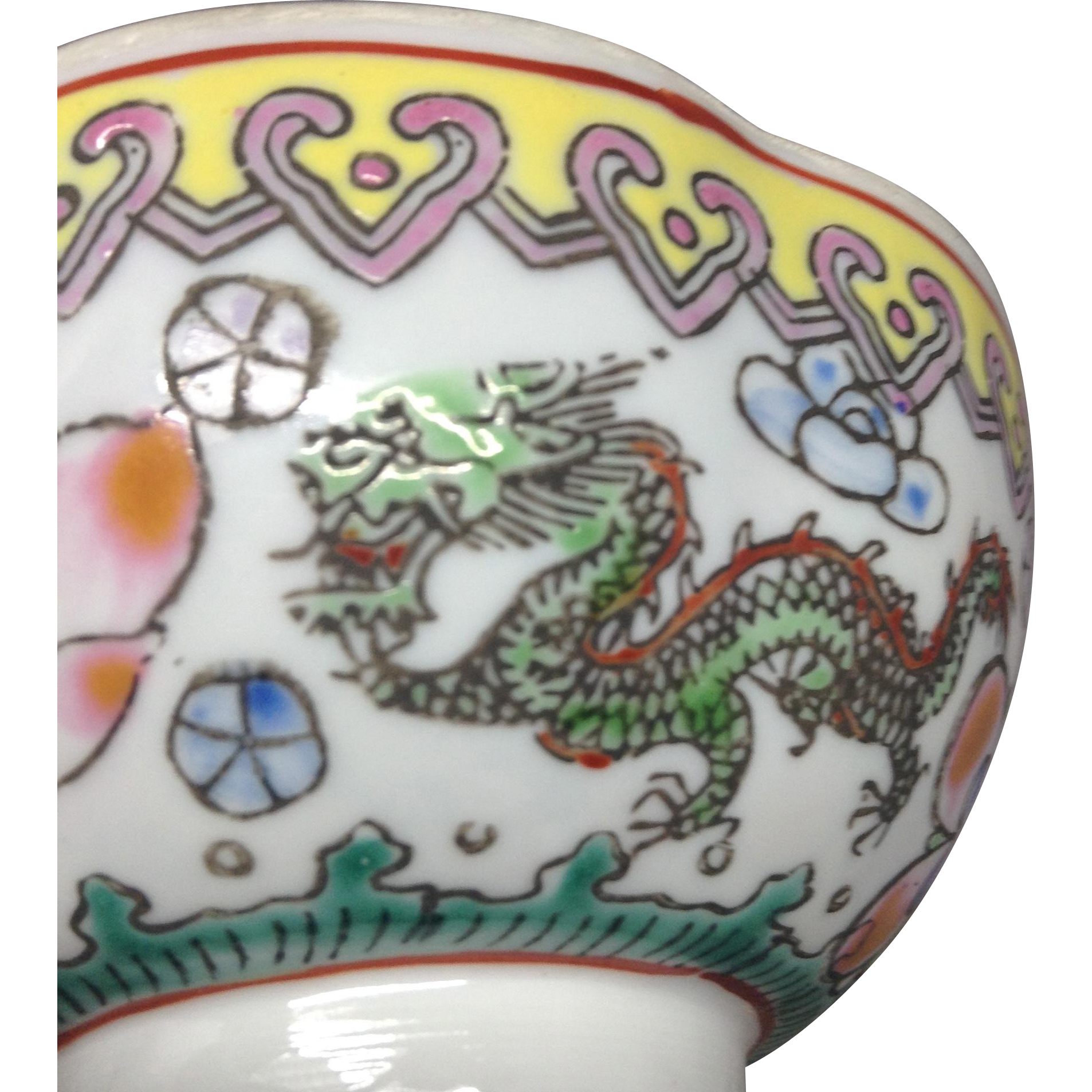 Vintage Chinese Egg Shell Tea Bowl