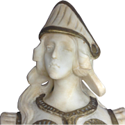 19th Century Fine French Woman Warrior Carved Marble