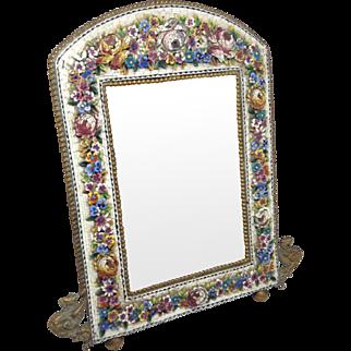 Victorian Italian Micro Mosaic Magnificent Mirror