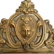 Beautiful 19th Century French Brass Mirror With Face