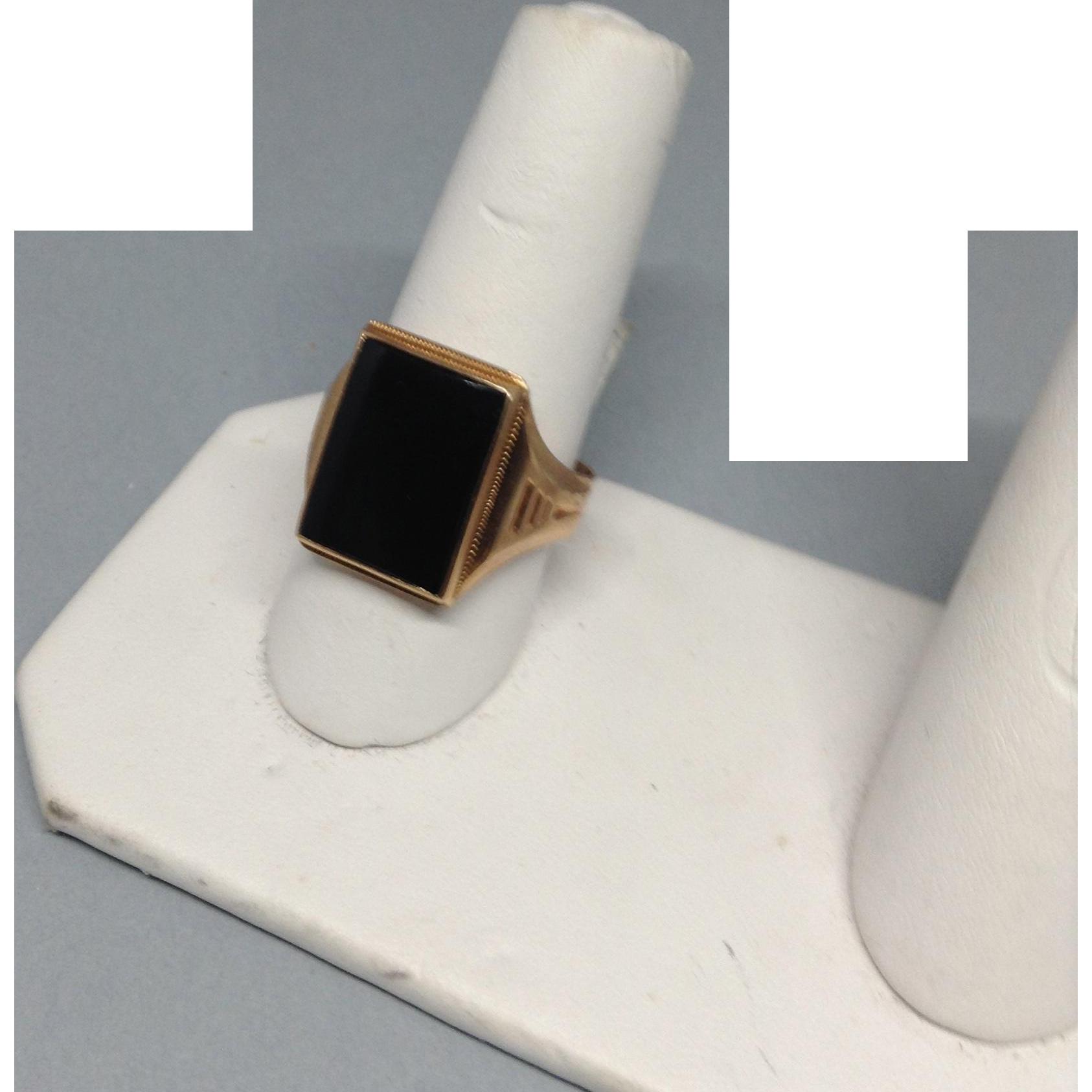 14K Man's Onyx Ring