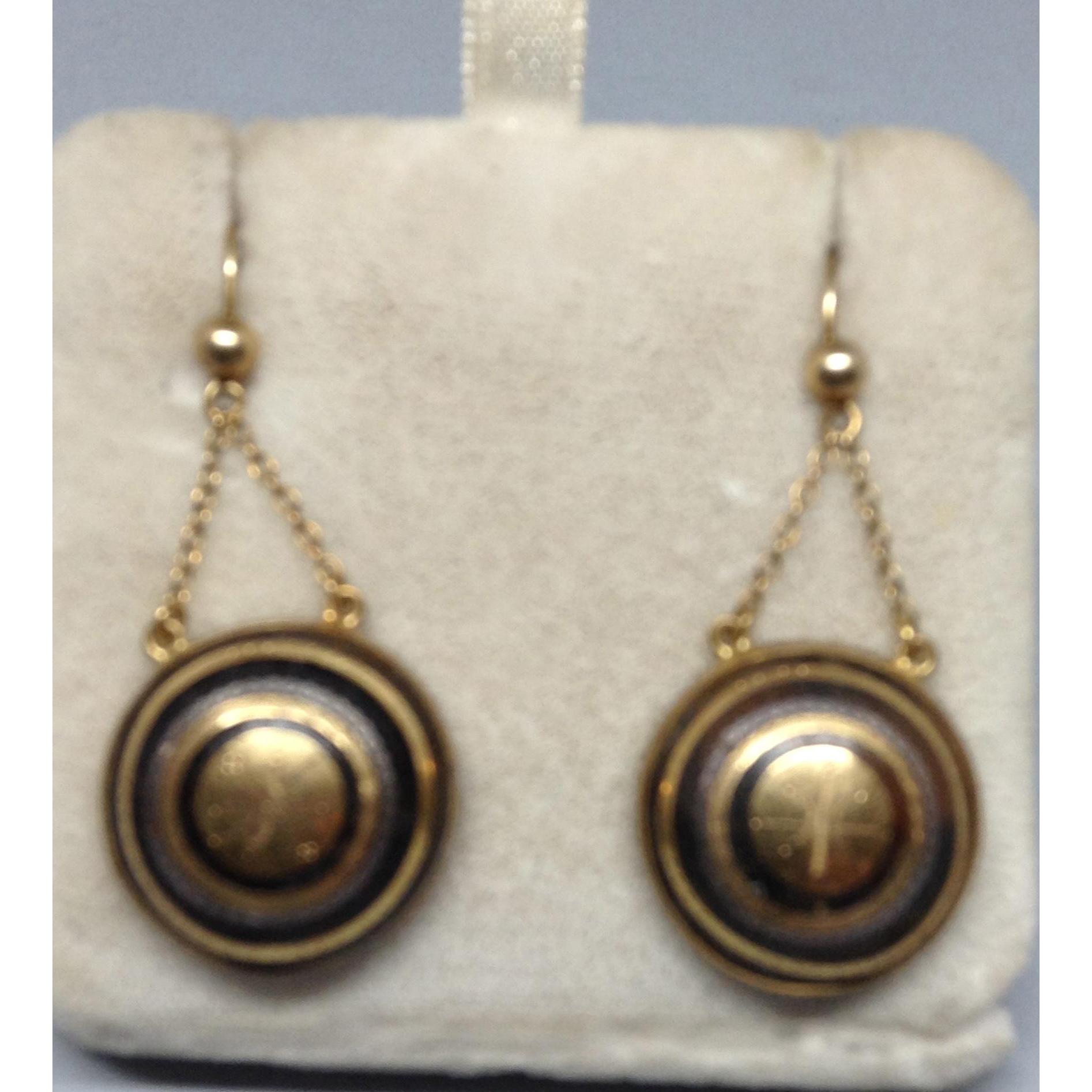 Victorian Exquisite Pique/Gold Earrings