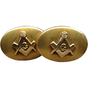 14K Masonic Cuff Links