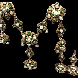 Austro Hungarian Suite Natural Emeralds Pearls