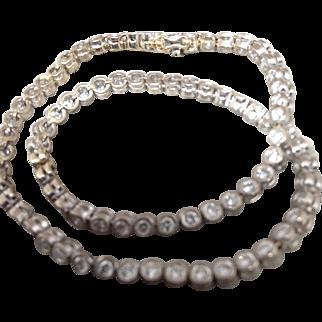 Diamond Bracelet, 14k White Gold, Bezel Set