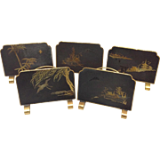 Set of Japanese Damasene Placecard Holders