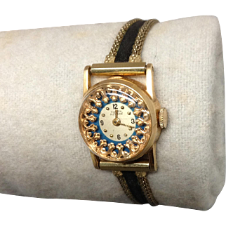14K Lucien Piccard Womans Watch Gold Band