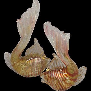 Pair of Murano Striped Fish