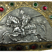 French Jeweled Casket with Knight on Horseback