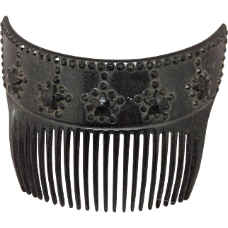 Black Mourning Hair Comb