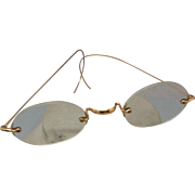 19th century 14K eyeglasses in case