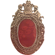 19th century Lovely French Silver Frame with Putti