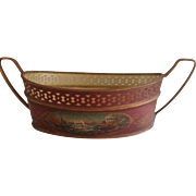 French Tole Planter/Bowl with Handles