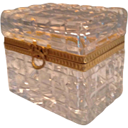 Beautiful Baccarat Cut Glass Box