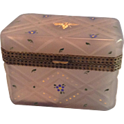 19th Century Violet Opalescent French Casket
