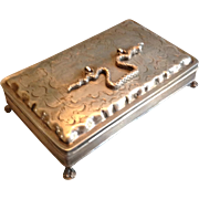 19th Century French Silver Box With Snake Handle