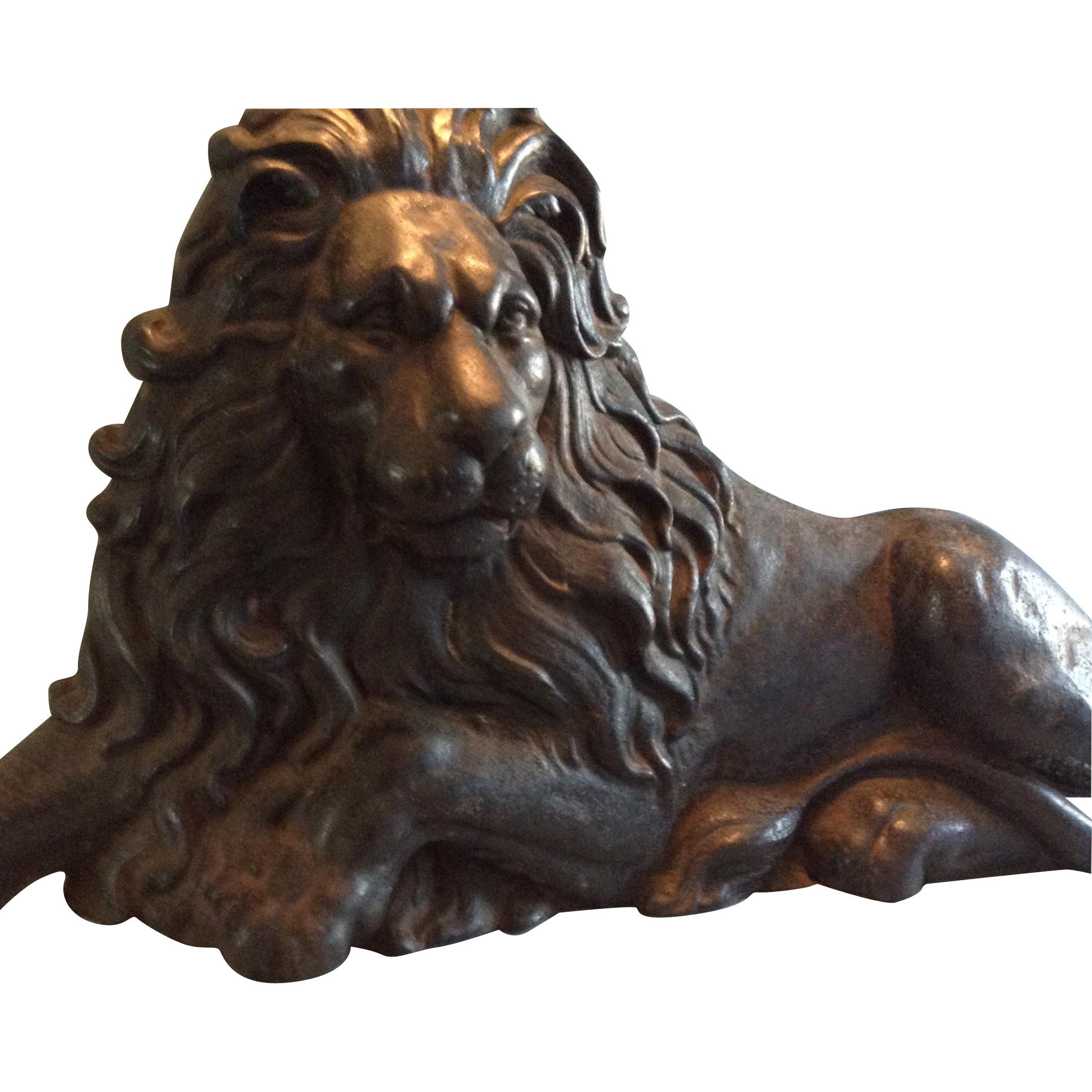 19th Century Magnificent Cast Iron English Lion