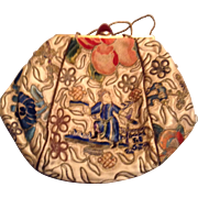 Chinese Textile 1920's French Purse