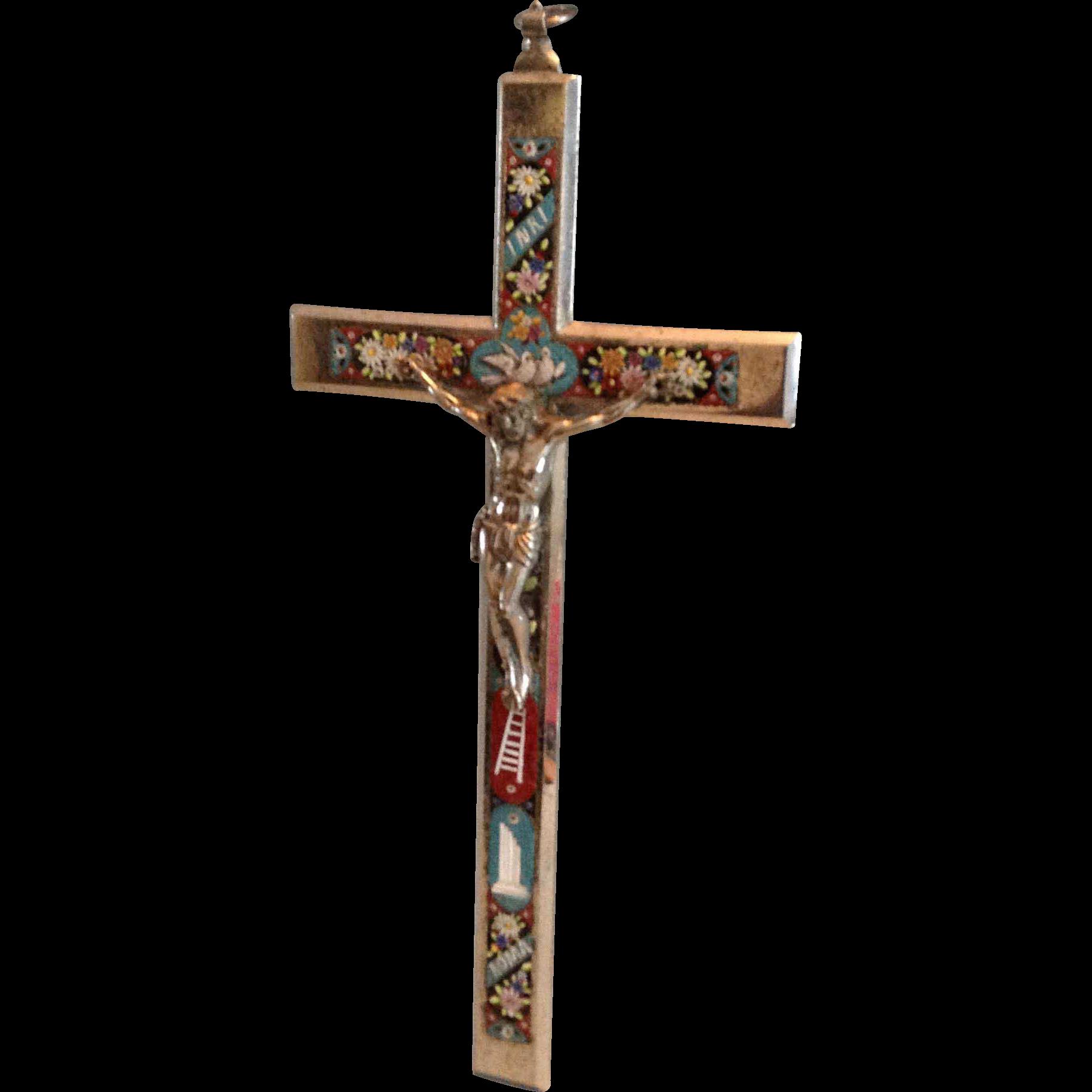 Grand Tour Italian Mosaic Cross