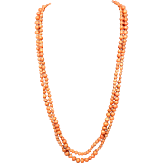Victorian Coral Long Necklace