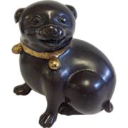 19th Century Bronze Dog Signed D. L. - Red Tag Sale Item
