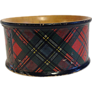 19th Century Scottish Tartanware Napkin Ring, McLean Tartan