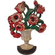 Hubley Poppy Vase Doorstop, Design #440