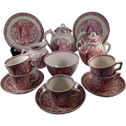 16 Piece Child's Tea Set-Little Mae With Pets by Allerton