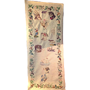 Large Victorian Needlework Sampler Dated 1878