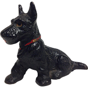 Vintage Hubley Painted Metal Scottie Dog Paperweight