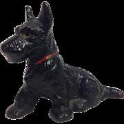 Vintage Hubley Painted Metal Scottie Dog Paperweight