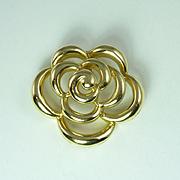 Late 20th Century Van Cleef & Arpels 18kt Gold Floral Motif Pendant