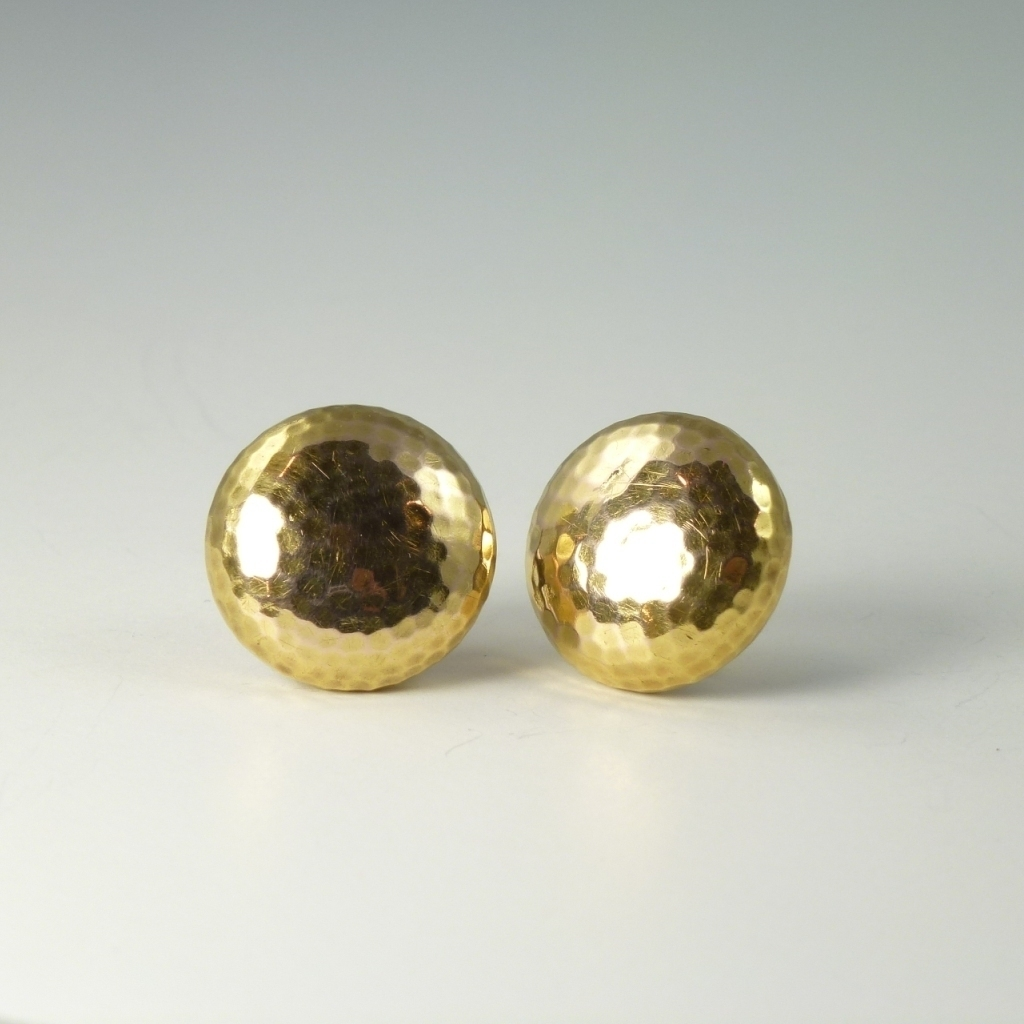 World War 1 Era Tiffany 18kt Gold Military Officer Collar Buttons