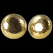 World War 1 Era Tiffany 18kt Gold Military Officer Collar Buttons