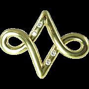 1970s Aldo Cipullo Diamond & 18kt Gold Brooch