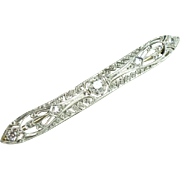 1920's Diamond & Platinum Bar Pin