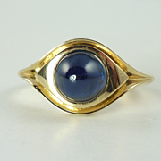 Vintage 3.0ct Natural Blue Sapphire & 14kt Gold Ring