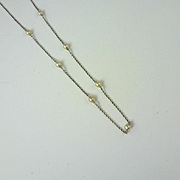 Circa 1900 GIA-Certified Natural Pearls & Platinum Necklace