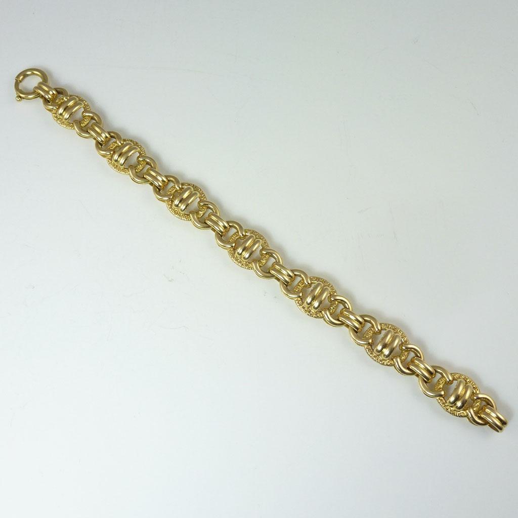 Exceptional Vintage18kt Gold Heavy Link Bracelet
