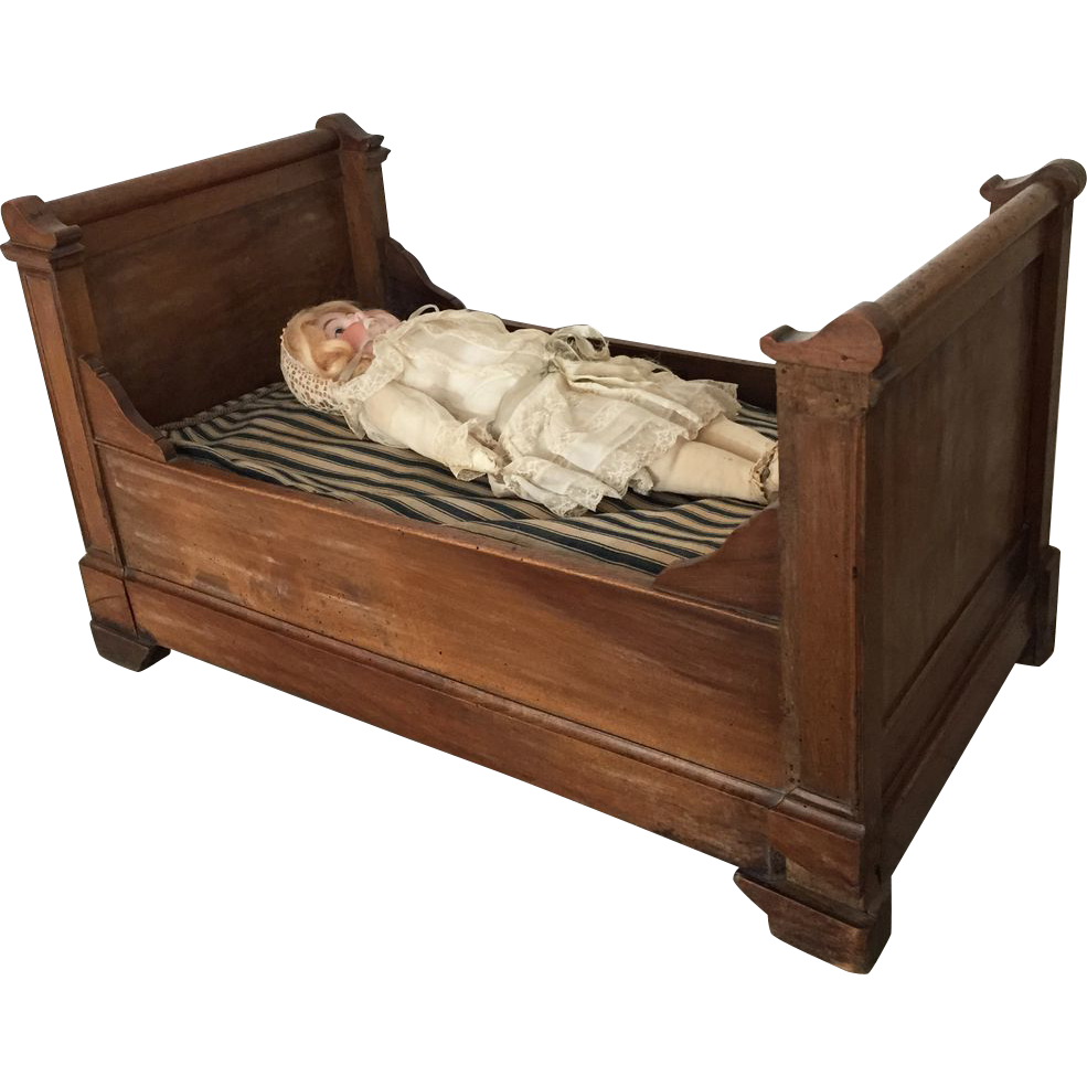 1800 1850 large french doll 39 s bed child toy furniture sold for 1800 beds
