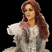 1910/1920's Art Nouveau Wax Bust mannequin Signed Wig head