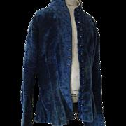 1880 Antique French Blue Velvet Child Coat Doll Mannequin