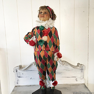 1930/40's French Child's Clowns Costume Pierrot Harlequin