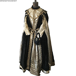 Vintage Stage Theatre Opera Embellished Queen Costume Dress
