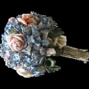 Antique French Porcelain flower Bouquet Doll 1910