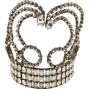 1910-20'S Stage Tiara Diadem Crown Filed With Round and Rectangle Rhinestones